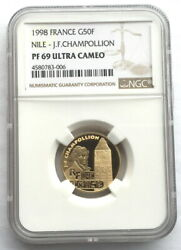 France 1998 Treasures Of Nile Ngc Pf69 Gold Coinproof
