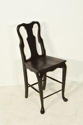Dutchcrafters Amish Cherry Wood Queen Anne 24 Bar Chair Set Of 4