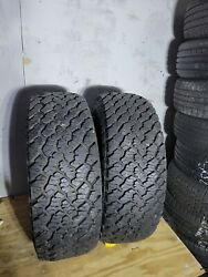 2 Used General Grabber At2 - 255x70r15 Tires 2557015 255 70 15