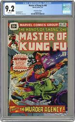 Master Of Kung Fu 30 Cent Variant 40 Cgc 9.2 1976 2068832018