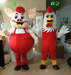 Chicken Mascot Costume Suit Cosplay Party Xmas Dress Outfit Halloween Adult 2020