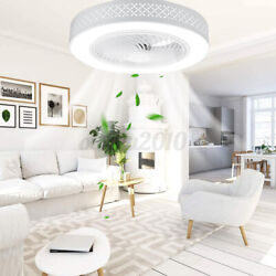 20 Dimmable Round Ceiling Fan Light Led Chandelier Lamp Remote Control 3 Speed