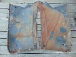 1958 1959 Chevrolet Truck Inner Front Fender Pair Solid Western Used Patina
