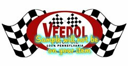 Veedol And039aand039 Contour Cut Vinyl Decals Sign Stickers Motor Oil Gas Globes