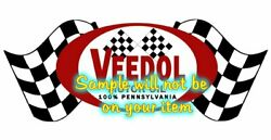Veedol 'a' Contour Cut Vinyl Decals Sign Stickers Motor Oil Gas Globes