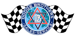 Dodge Brothers Detroit Cars Racing Flags Contour Cut Vinyl Decals Sign Stickers