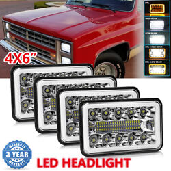 Dot 4x6 Cree Led Headlights Hi/low Beam Drl For Chevy C10 Pickup 81-1987 Truck