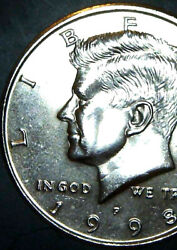 1998 P Half Dollar Double Die Super Rare And Uncirculated Dd Front And Back