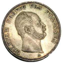 1862-a German States Prussia 2 Thaler Km491 High Grade Uncirculated Free P/h