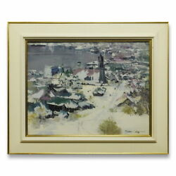 Article Oda Kyunori The Town With Tower Oil Painting No.10 Landscape Snow Church