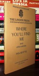 Beattie Ann Fisher Vienne Where Youand039ll Find Me And Other Stories 1st Edition