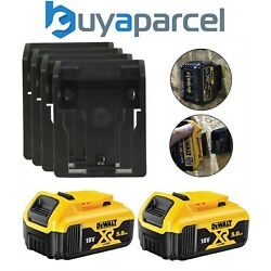 2 X Dewalt Dcb184 5.0ah 18v Xr Lithium-ion Batteries And 4 X Supports Mural