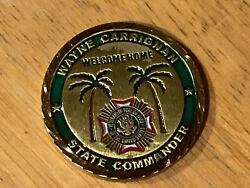 Us Military Challenge Coin State Commander Florida Vfw 2013
