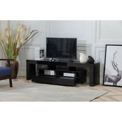 Wood Media Storage Console For 65 Inch Tv Flat Screen Tv Stand Cabinet Consoles
