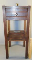 Antique Mission Oak One Drawer Cabinet Arts And Crafts Smoking Stand Ashtray