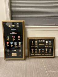 Lot Of 17 Framed Military Medals And Ribbons - Korean War - Ssg Kingery 1953