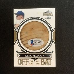 2020 LUMBER KINGS GREG MADDUX OFF THE END OF THE BAT SERIAL #ED 1 1