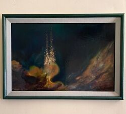 Original Nierman Oil Painting Signed And Framed Bought In Manhattan