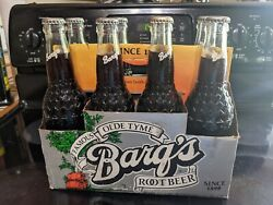 Barqs Root Beer 8 Pack Carrier With 8 Full Vintage Bottles. See Description