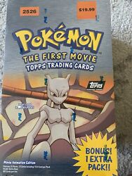 Pokemon The First Movie Topps Trading Cards. New Never Been Open