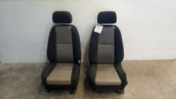 07-09 Silverado Sierra Used Left And Right Front Cloth Manual Seats Torn 7417923