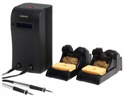 Metcal Mx-5211 Soldering/rework Station With Two Mx-h1-av Soldering Irons