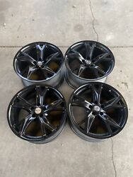 19 Nissan 370z Forged Wheels Factory Oem Rims Gloss Black Rays 2010-2020 Read