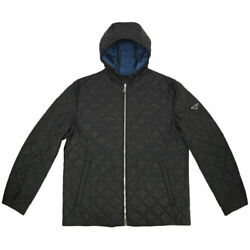 Up To 000 Yen Draw Cp Jacket Sgh053 Mens Quilting Zip Hooded Nylon Nero