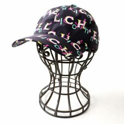19p Women 's With Coco Mark Button Logo Total Pattern Cap/hat Multi