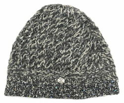 Knit Cap Hat Coco Mark Cashmere Mixed Hats Chain Gray Spangle Women And039s