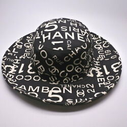 Coco Mark Total Logo Pattern Hat Black White There Is Bag 58 No.5