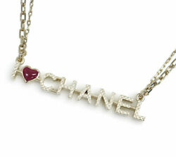 Up To 000 Yen Draw Cp Necklace A98209 Pendant Love Logo Gold Double Chain