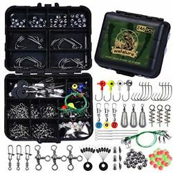 Fishing Tackle Box Full Loaded Accessories Hooks Lures Baits Hooks