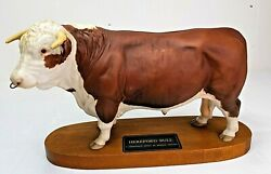 Stunning Beswick Connoisseur Series 'hereford Bull' Made In England