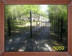 Driveway Gate 1059 Built Here In The Usa 12and039 Steel - Iron Home Yard Security