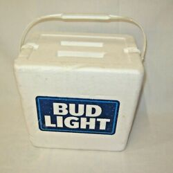 Vintage Budweiser Bud Light Foam Cooler Nice Condition Beer Ice Chest Rare