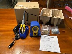 New Hakko Fx888d-23by Digital Soldering Iron W/ Fx-8801 Tip - Blue And Yellow