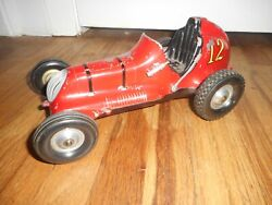 Vintage Roy Cox Champion 12 Red Thimble Drome Tether Toy Race Car