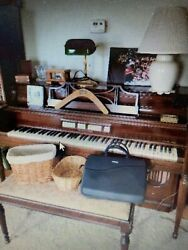 1957 Story And Clark Piano Organ Combination Electric In Cooperation With Lowery