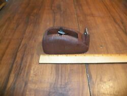 Vintage 1950s Brown Industrial Cast Iron Whale Tail Scotch Tape Dispenser