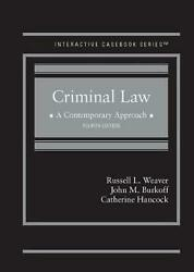 Criminal Law A Contemporary Approach By Catherine Hancock English Hardcover B