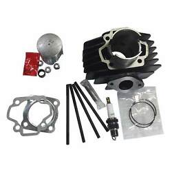 For Yamaha Pw50 60cc Big Bore Top End Cylinder Kit 2003 02 01 00 1999 1998 Glad