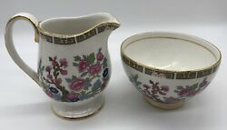 Arklow Pottery Ltd. Famel Rose Creamer And Sugar- Made In Republic Of Ireland
