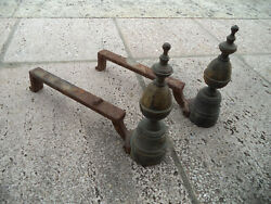 Pair Antique Chenet Andiron From Manor House