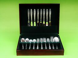 Sterling Silver Willow By Gorham Flatware Set 44 Pieces.service For 8.