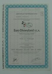 France Euro Disneyland Mickey Mouse Certificate With Coupons