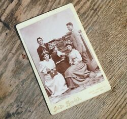 Id'd Killer And Victim Pictured C1890 Murder Cabinet Card Photo Indiana Girl Shot