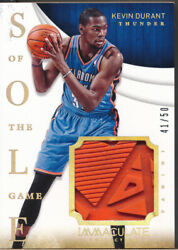 2013-14 Immaculate Collection Sole Of The Game 8 Kevin Durant Shoe /50
