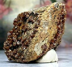 Rough Vanadinite Crystal Cluster From Morocco Beads.of.babylon