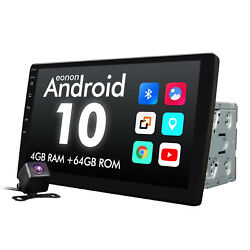 Us Cam+double 2din 10.1 In Dash Android 10 4+64gb Car Radio Gps Stereo Dab+ Rds